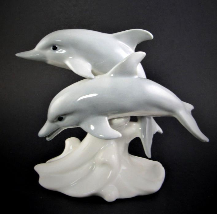 OTAGARI porcelain Dolphins figurine made in Japan (A39)