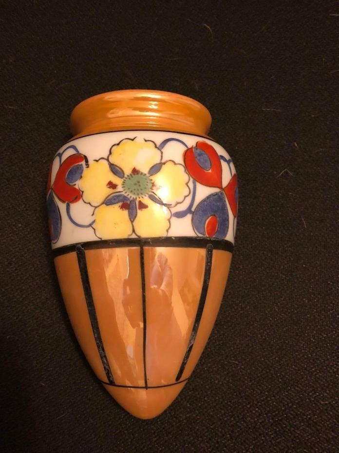 Japan Lusterware Wall Pocket Vase