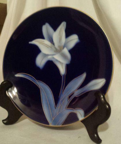 Vintage Cobalt Blue Fukagawa Plate Arita Ware Japan .6