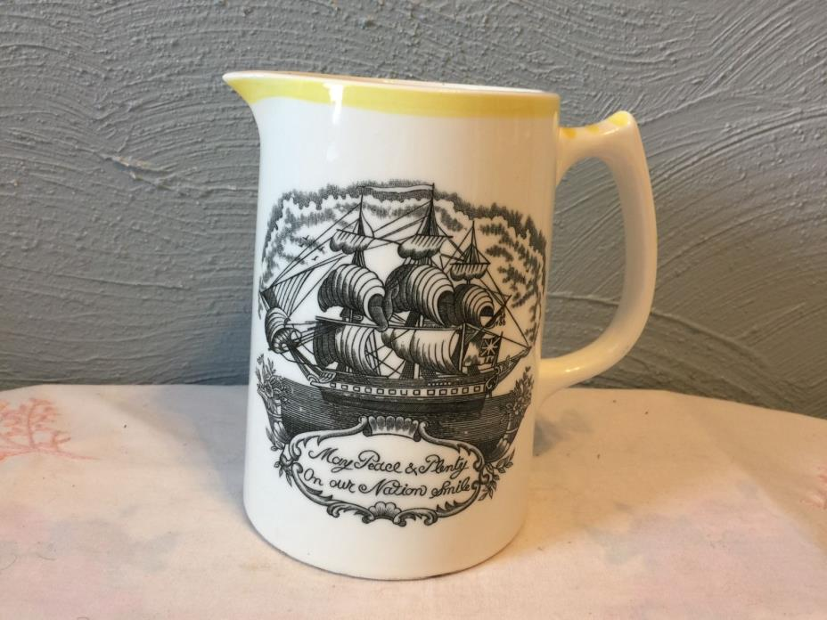 Porcelain Pitcher The Sailors Tear Ardco Fine  Quality Dallas Made in Japan