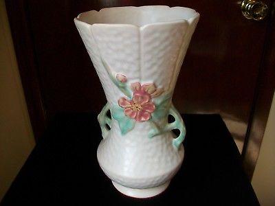 Weller Pottery Delsa Scalloped Vase 9