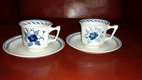 micratex adams enland ironstone tea cups blue and white