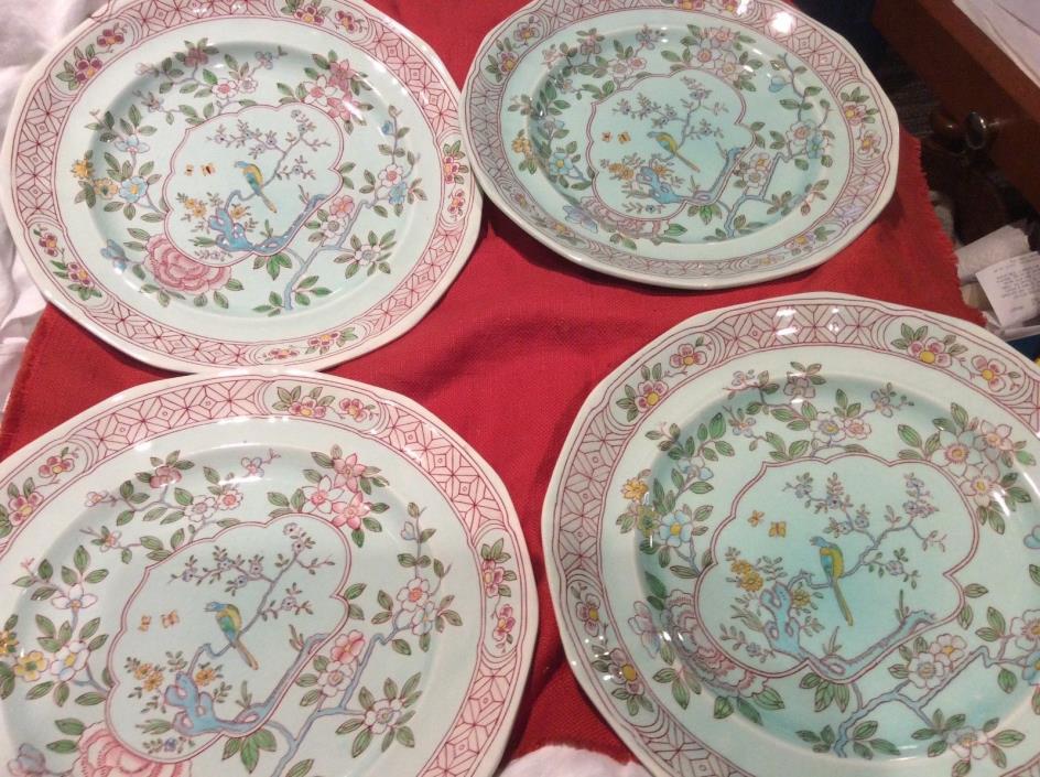 4 Adams Calayx Phoenix Bird Dinner Plates 1944 England