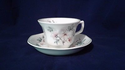 VINTAGE SET OF (8) ADAMS  AZALEA  IRONSTONE  CUP AND SAUCER MADE IN ENGLAND