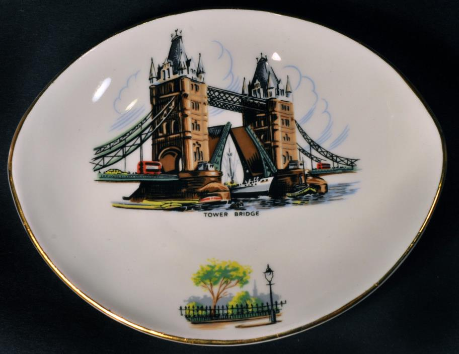 Royal Adderley Bone China Tower Bridge London Small Pin Trinket Dish 5