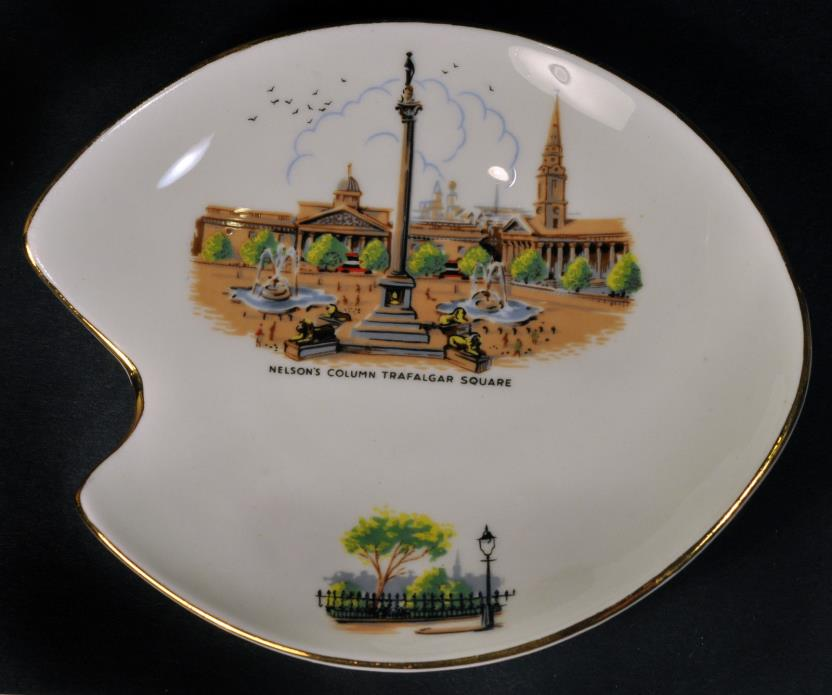 Royal Adderley Bone China Nelson's Column Trafalgar Square Sm. Pin Trinket Dish