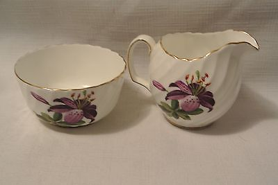 Adderley Sugar/ Creamer Gold trim Bone China, England