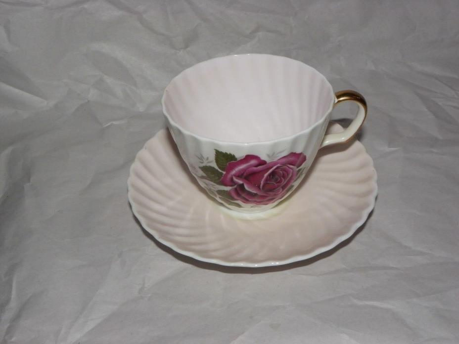 Adderley English Tea Cup and Saucer fine bone china Floral Rose