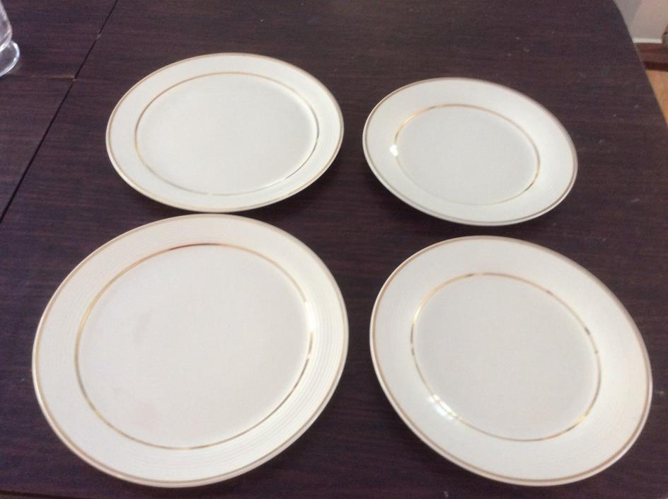 triumph american limoges 22 k gold trim pattern hollywood (2)plates and platters