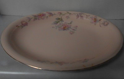 Limoges Peach Blo Oval Platter