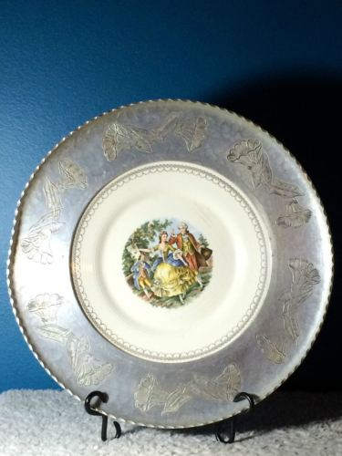 Chantilly by Limoges American Plate w/Wrought Farberware Rim