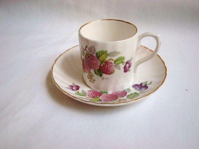 Vintage Royal Castle Demitasse Cup & Saucer Fine Staffordshire Bone China  NR