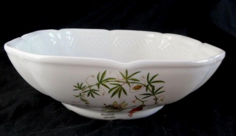 Louricux Porcelaine Floral Butterfly's White Bowl 9