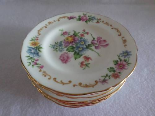 CROWN STAFFORDSHIRE PATTERN F16166 VINTAGE BREAD PLATE (s) RARE