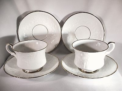 6 Pc Royal Staffordshire Old English Oak Fine Bone China Cup and Saucer Set
