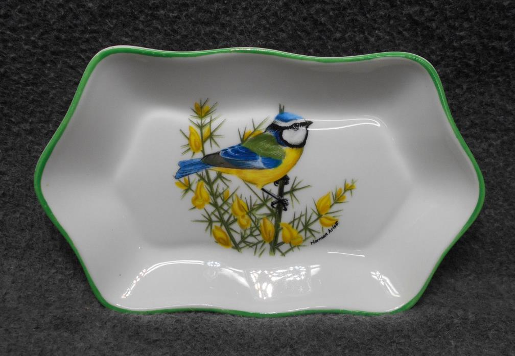 Crown Staffordshire Bird Trinket Tray Candy Dish - by Norman Arlott - Bone China