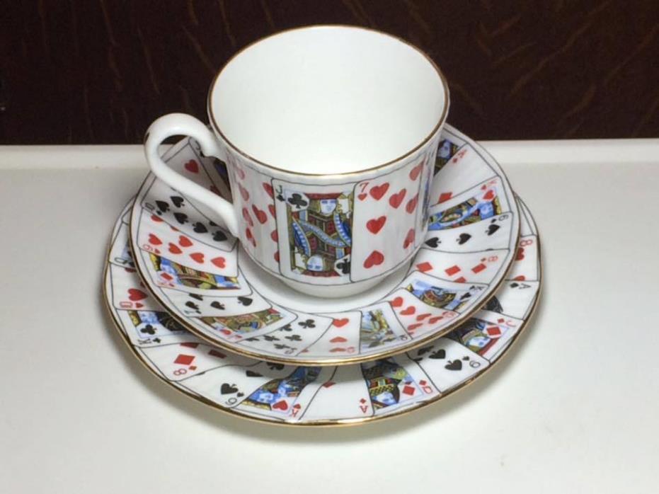 Elizabethan Staffordshire Cut for Coffee trio set made in England