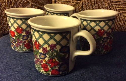 DANSK NORDIC GARDEN Lot of 4 coffee mugs