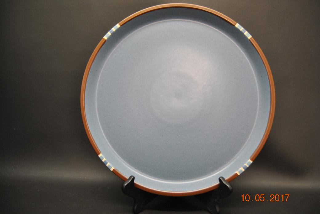 Dansk Sky Blue Mesa Chop Plate / Round Platter Made In Japan 13 1/8