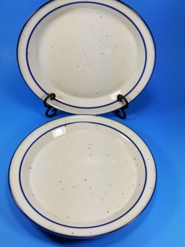 SET OF 2 Dansk Dinner Plates - BLUE MIST - 10