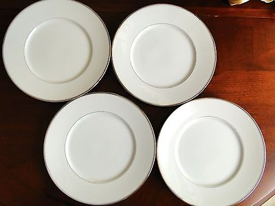 DANSK MONOGRAM PLATINUM - LOT OF 4 Dinner Plates 10 3/4