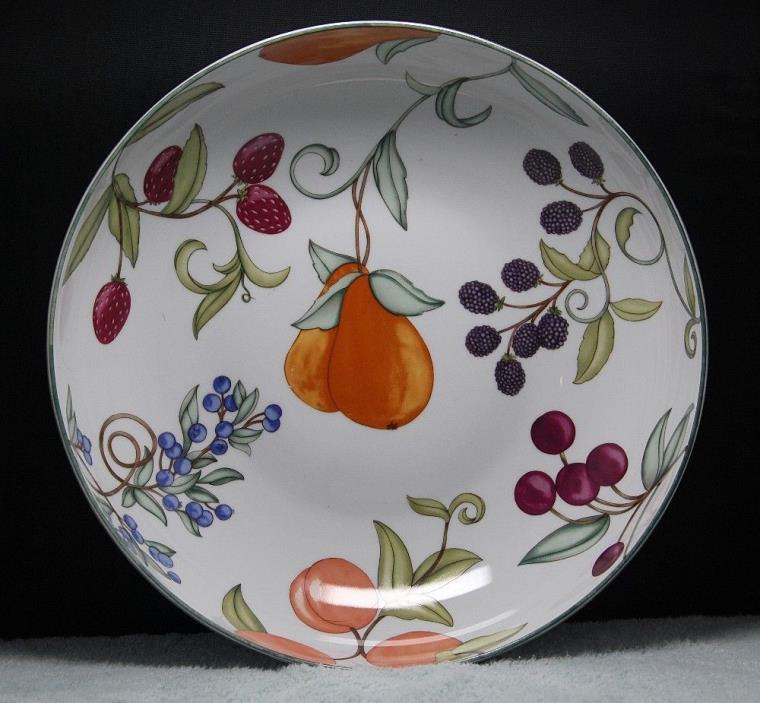 Dansk Umbrian Fruits Large Pasta Serving Bowl