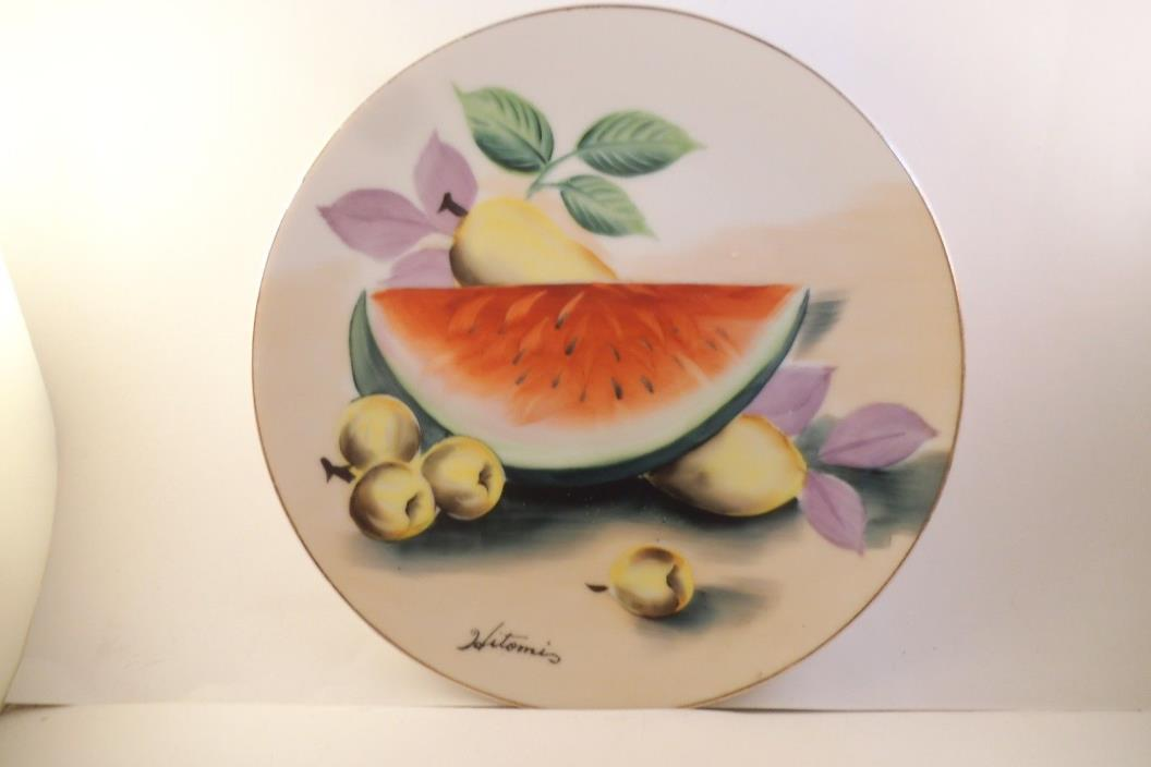 Vintage Ucagco China Made in Japan Decorative Plate Fruit Watermelon
