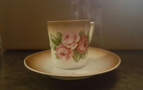 CT ALTWASSER GERMANY CUP AND SAUCER, Pink Roses