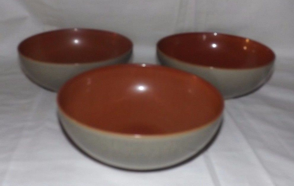 (Set of 3) DENBY Pottery 6 5/8