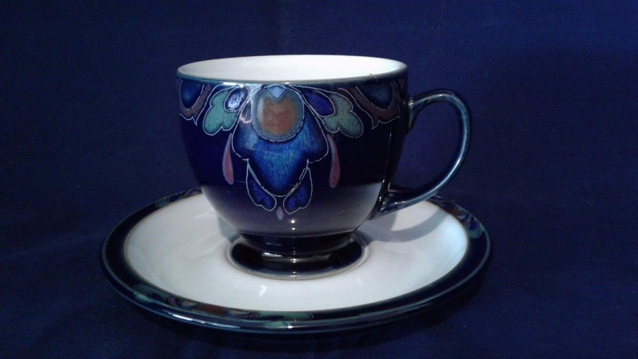 DENBY BAROQUE FOOTED TEA CUP AND SAUCER SET .MINT CONDITION. BEAUTIFUL !!!!