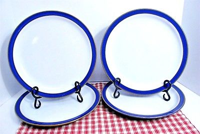 LOT of 4 DENBY Langley Imperial Blue 10 3/8