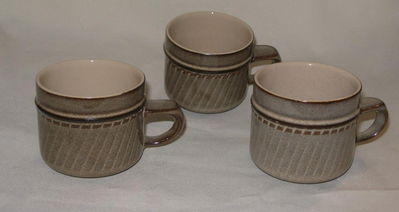 3 ~ Denby ~ SONNET ~ COFFEE CUPS ~ Made In England ~ NEW / OLD STOCK ~ MINT