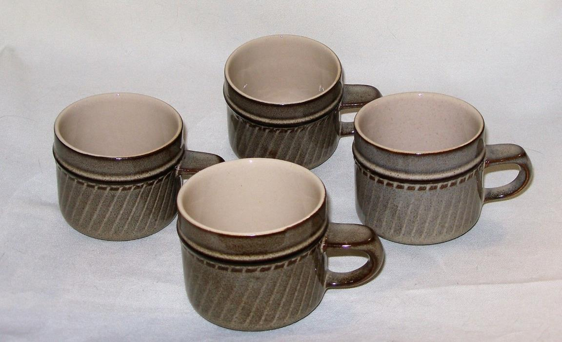 4 ~ Denby ~ SONNET ~ COFFEE CUPS ~ Made In England ~ NEW / OLD STOCK ~ MINT