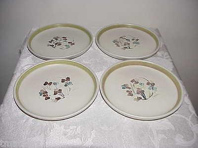 4 Denby Langley Shamrock Bread Plates