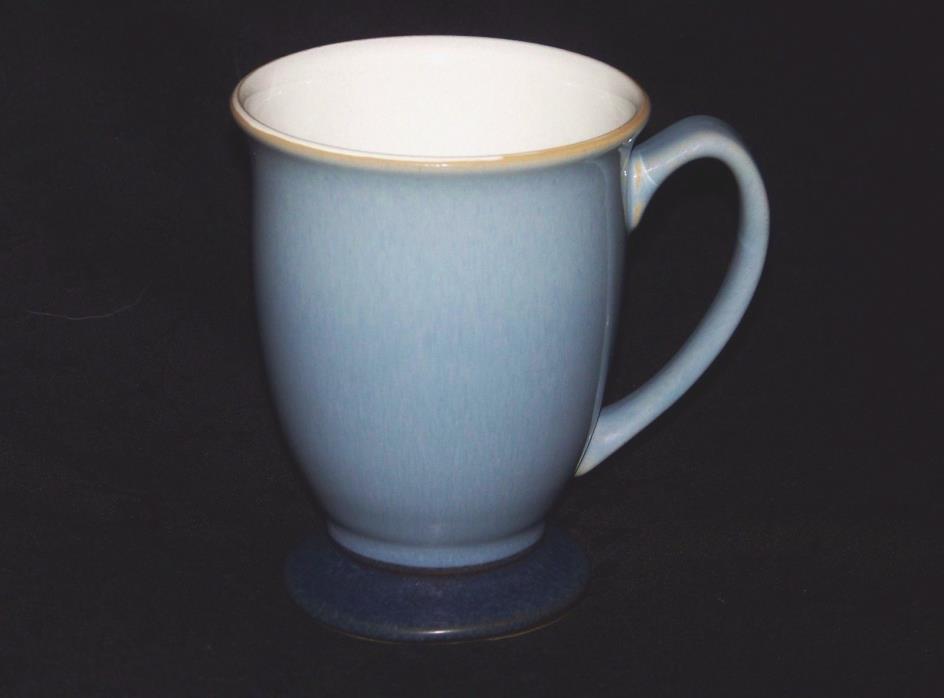 Retired DENBY ~ LANGLEY Stoneware BLUE JETTY Pedestal Mug Cornflower / Navy Blue