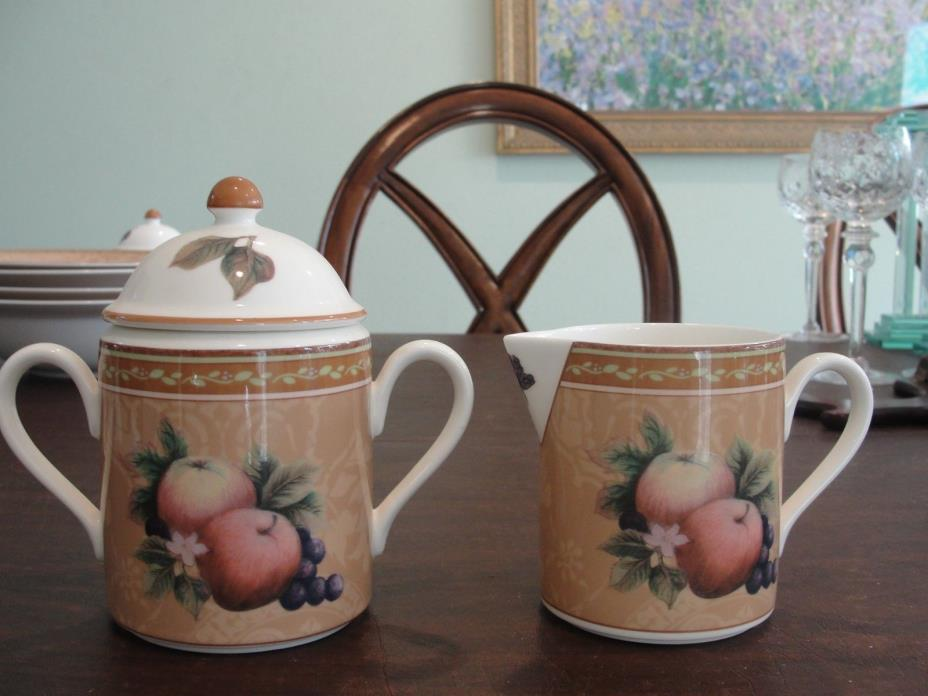 FITZ AND FLOYD TUSCANY CREAMER AND SUGAR SET