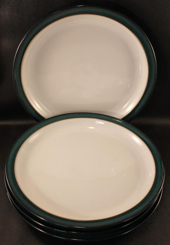 FOUR (4) Denby Greenwich Dinner Plates 10 1/4