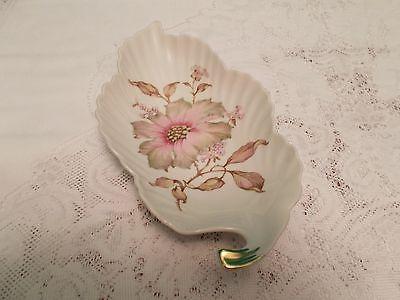 Old Niremburg Porcelain Leaf Shaped Dish - Barvaria Germany