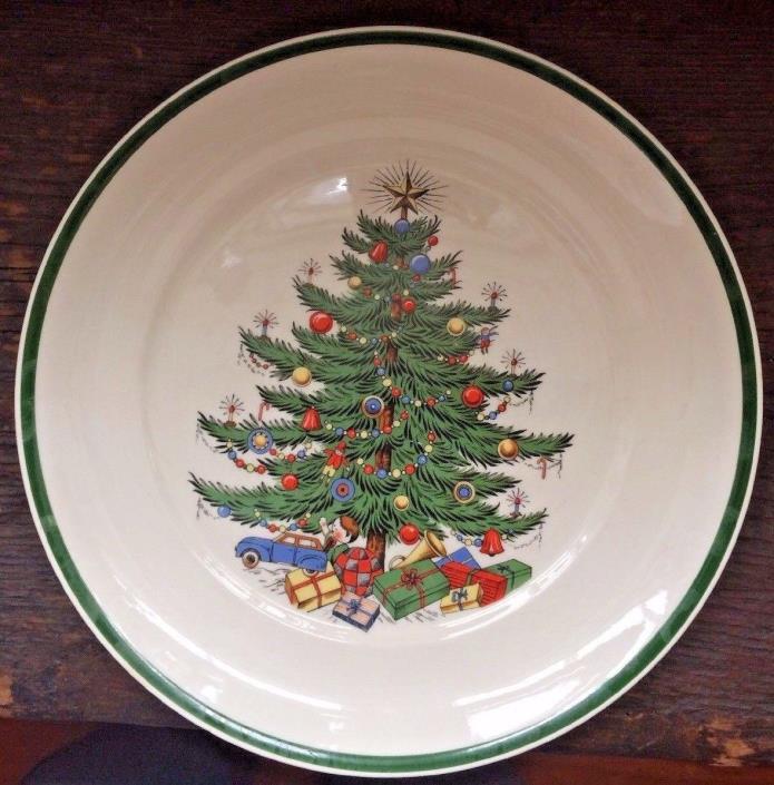 Vintage Plummer Ltd. Christmas Dinner Plates, Set Of 3 Made In England 10.25