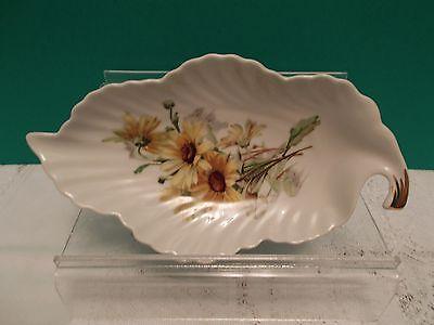 Old Niremburg Porcelain Leaf Shaped Floral Dish - Barvaria Germany