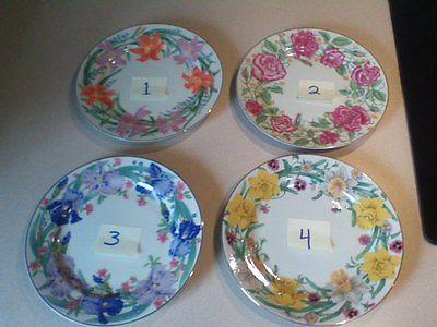 Lenox Flower Blossom Dessert Plates Suzanne Clee Porcelain Floral (4 avaible)