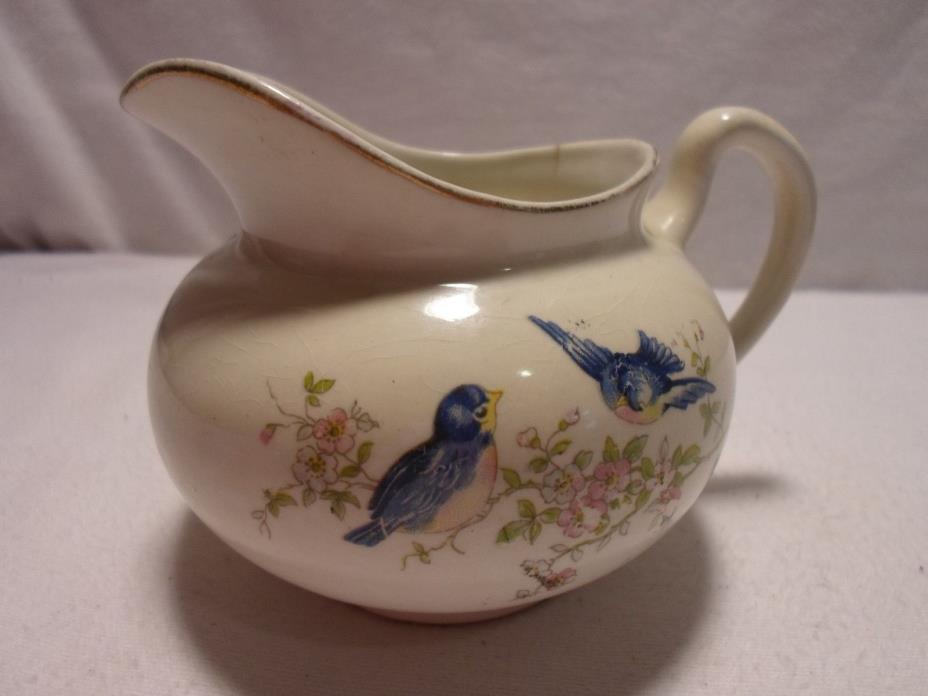 Vintage Canonsburg Bluebird Creamer Collectible