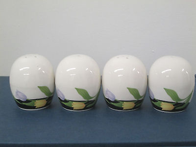 Porcelain fine china 2pairs of salt & peppers 2 3/4