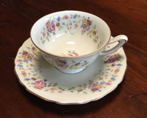 Vintage Thomas Ivory Porcelain Demitasse Cup & Saucer 28 Bavaria Germany US Zone