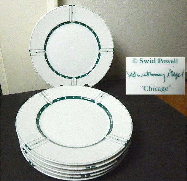 Swid Powell, Gwathmey Siegel CHICAGO Salad Plates, Set of 6