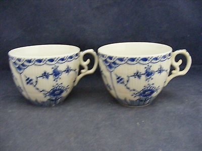 2 Blue Fjord Cups  L & M Lipper & Mann Mint Condition