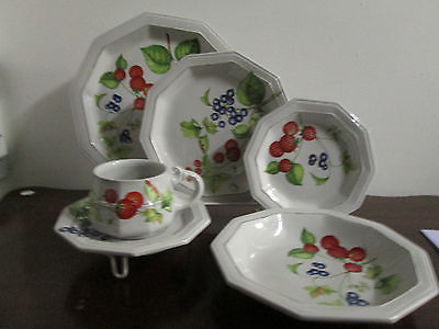 Mancioli Pintica Medici fine china 1- 6pc. place settings new perfect made Italy