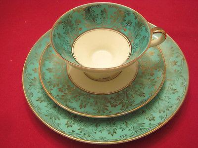 Vintage Alka Bavaria 3-piece Cup Saucer Plate Set #929 circa 1938-1958