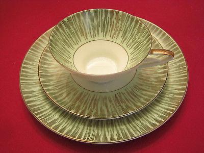 Vintage Alka Bavaria 3-piece Cup Saucer Plate Set #1080 circa 1938-1958