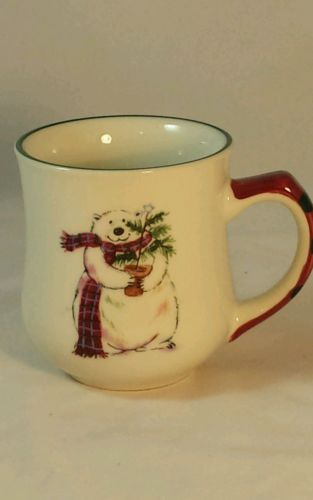 Pfaltzgraff Holiday Christmas Snow Polar Bear Winter Coffee Tea Cocoa Cup Mug